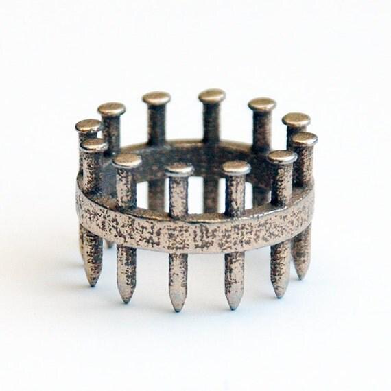 Silver Nailed Ring