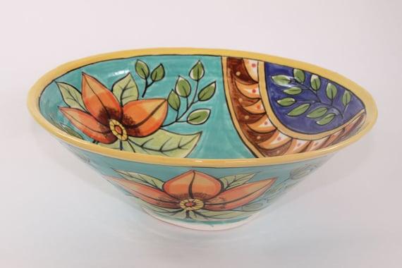 Turqoise Multicolored Decorative bowl