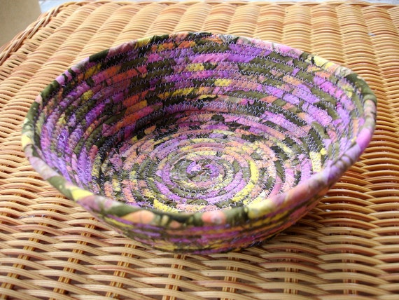 Purple Haze Fabric Bowl