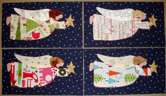 Christmas Angels Quilt Blocks