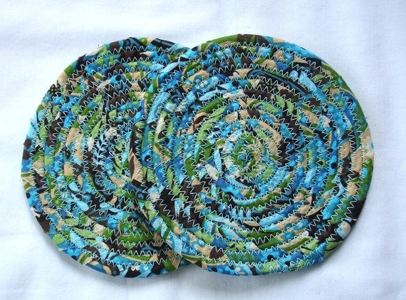 Iced Coffee Coiled Fabric Coasters