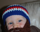 Independence Day Inspired Baby Beard Beanie Can Customize Size