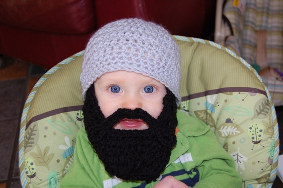 12 to 18 Months Size Baby Beard Beanie You Choose Size and Colors