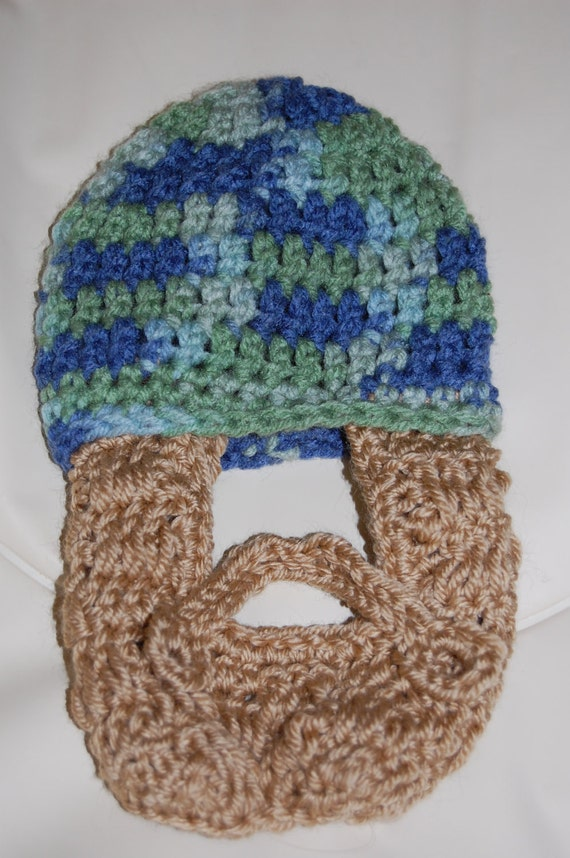 SALE PRICE Ready to Ship 0 to 3 Months Baby Beard Beanie