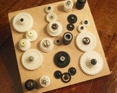 Gears Against the Grain wall hanging