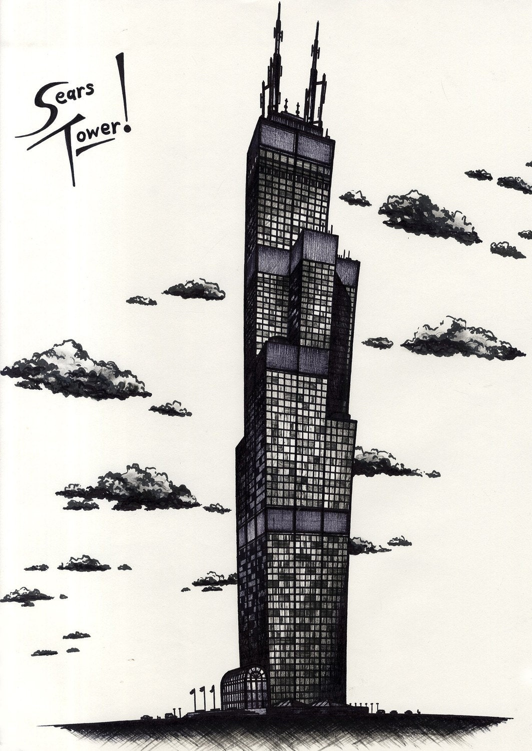 sears tower coloring pages - photo#33