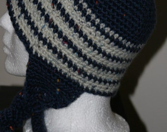 blue and snow white tweed