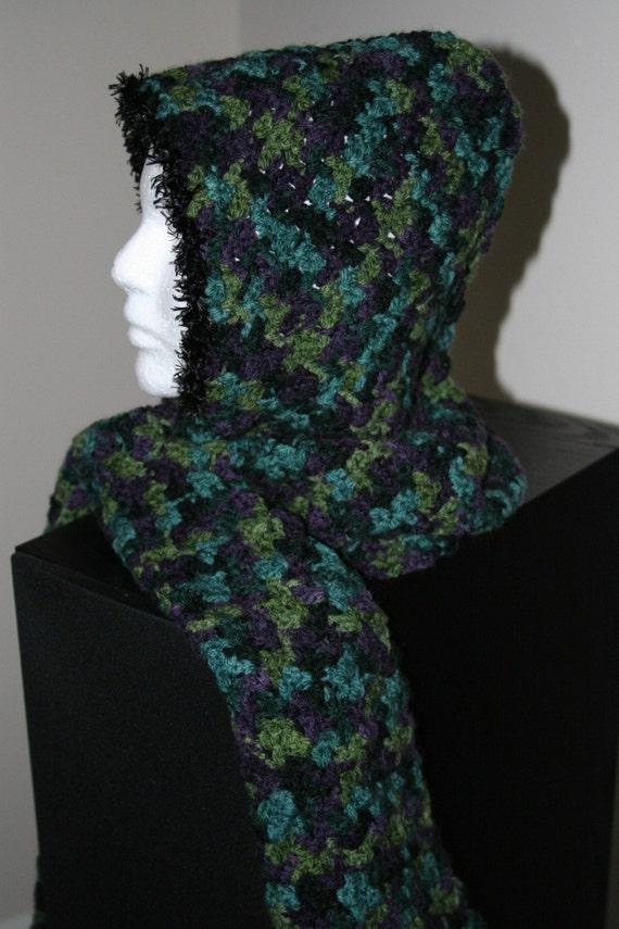 hoody scarf in secret garden colors