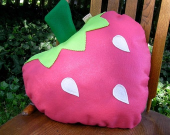 Strawberry Pillow-Fruit Pillow Plush-Unique-Decorative Pillow