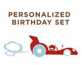 Personalized U Print Race Car Birthday Invite System