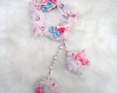 2-Way Pink Bows Fuzzy Shooting Star Barrette/Pin- Made to Order