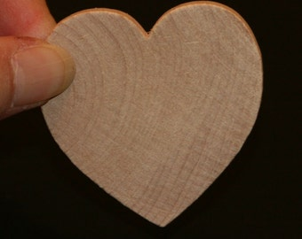 6 - Heart - 2 x 2 x 1/2 inch unfinished wood (WW-WH2050)