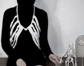 Skeletal Lamping. (A knit ribcage vest)