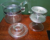 Pyrex Glass Percolator Flame Ware 4 Cup Coffee Pot