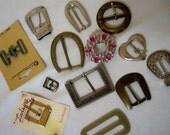 Belt Buckles 13 vintage Belt Buckles Crafting Supplies