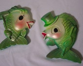 Reserved for Kitty Mansfield Miller Studio Fish Wall Plaques Set of 2