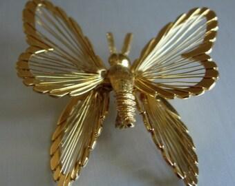 Monet Goldtone Butterfly