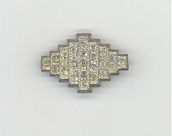 Tiny Art Deco Pin with C Clasp