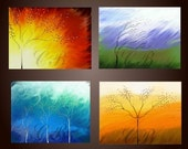 Elements of Nature- Fire, Water, Earth and Air. Abstract Art Prints. Free Shipping inside US