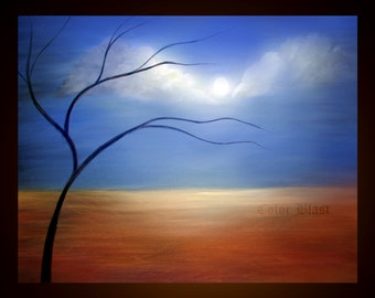 Serene- Abstract Landscape Art Print- Free Shipping inside US.