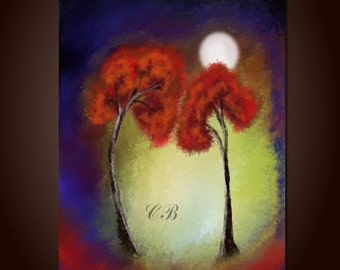 Get closer to me. Abstract Landscape Art Print.  Free Shipping inside US