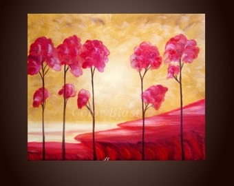 Original Contemporary Abstract Modern Fine Art Landscape Painting - Make Way. Oil Painting. FREE SHIPPING inside US.