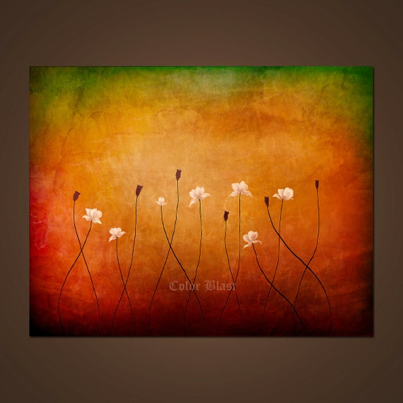Summer Dreams- Abstract Landscape Floral Art Print- Free Shipping inside US.