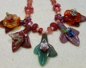 Artisan Carved Jade and Carnelian Florets in this Show Stopper Set