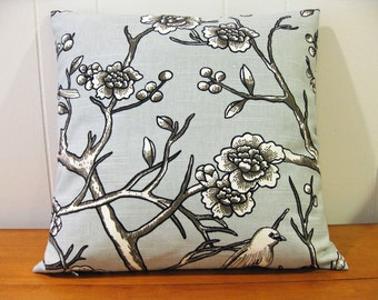 """Decorative Pillow Cover, 16"""" x 16""""in Gray, Taupe and White"""