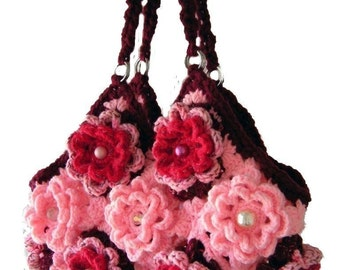 Bohemian Crochet Handbag Pattern PDF