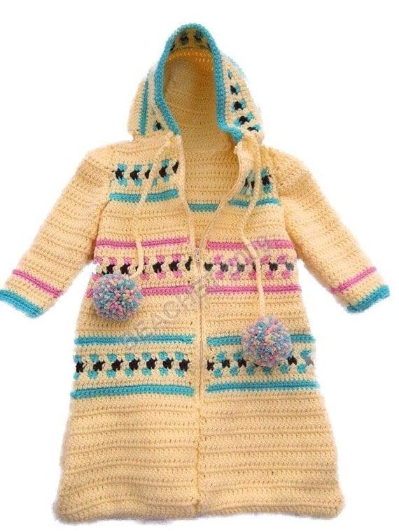 Baby Bunting Zippered Hooded Cozy Sleeping Bag Crochet ...