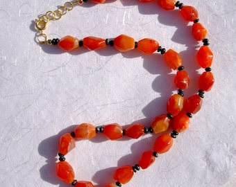 Faceted Carnelian Necklace by Signe