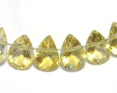 Citrine gem quality faceted ring cut pears 6 pieces  AAAA