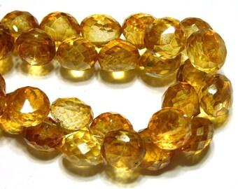 Mystic Apricot color candy kiss onion briolettes 4 pieces