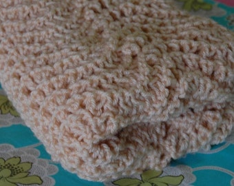 Sand and Waves Knitted Shawl