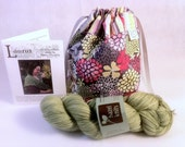 Fresh Cut JANe Kit- Limited Edition One Skein Knitting Project Bag, Hazelknits Entice Yarn and Shawl Pattern