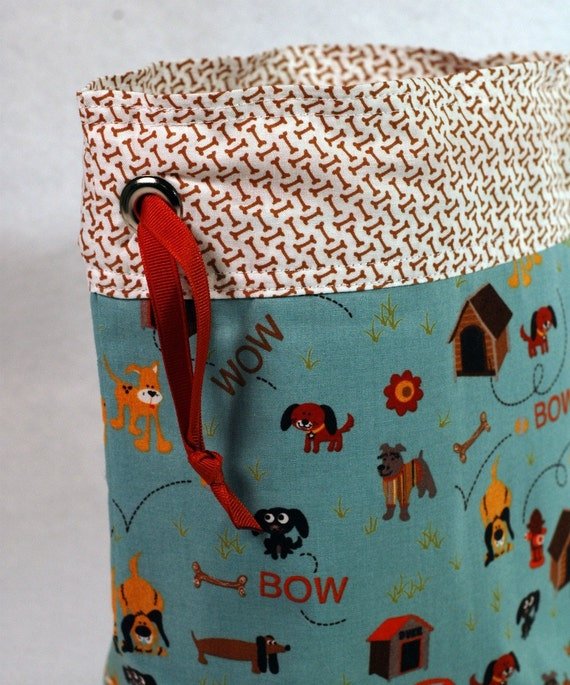 Bow Wow - One Skein Knitting Crochet Sewing Project Bag