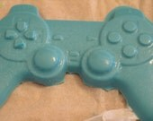 Sony PlayStation controller shaped chocolate candy in blue