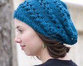 Slouchy Lace Beret Tam hat - Lacy Caterpillar