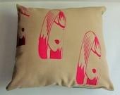 SALE Artwork Reversible Aqua Pillow