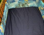 Crib Set Made With Vintage Star Wars Bed Sheet