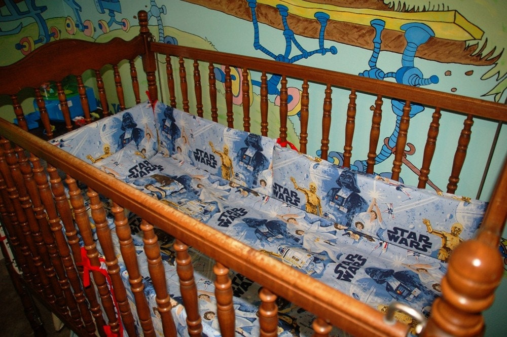 Crib Set Made From Star Wars Bed Sheets