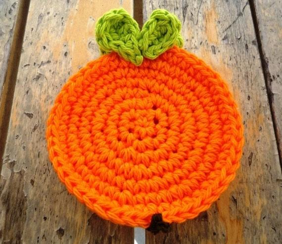 Crochet Orange Coasters (4 pc)
