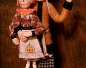 OOAK Halloween Scarecrow, Rag Doll by Allen W. Cunningham