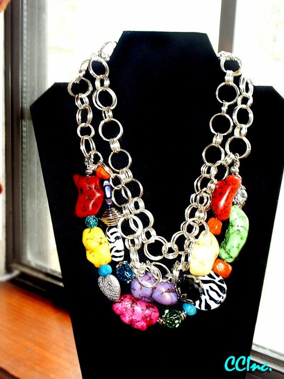 Cowgirl/Western/Rodeo Chunky Necklace - Cowgirl Crush