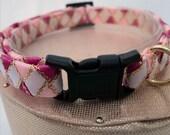 Pink Breakaway Cat Collar with White Diamonds