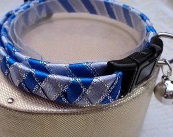 Blue Striped Breakaway Cat collar