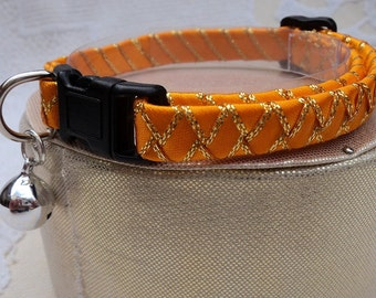 Sparkly Tangerine Orange Breakaway Cat Collar