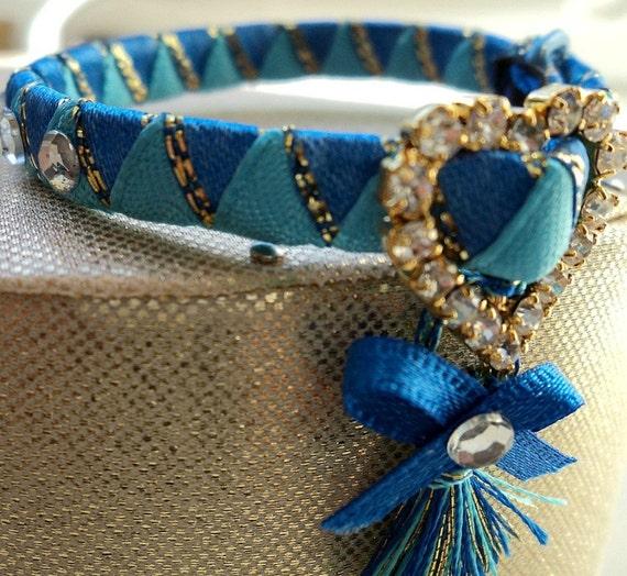 Designer Kitten Collar extra tiny Blue