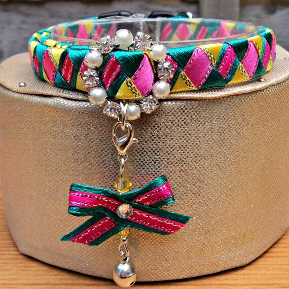 Cat Collar Designer Breakaway Style in Bright Colours